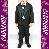 Costume enfant garçon mariage ceremonie queue de pie 1 à 4 ans VCS05 noir