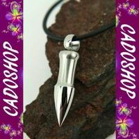 Collier homme pendentif balle gothique acier neuf COS27