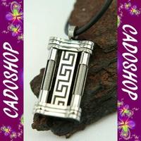 Collier homme pendentif grecque grec acier neuf COS65