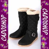 Chaussures bottes fille enfant simili cuir fourre hiver 25 26 27 28 29 30 B901 NOIR
