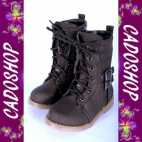 Chaussures bottes bebe fille garcon enfant unisexe simili cuir hiver 19 20 21 22 23 24 B906 MARRON