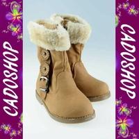 Chaussures bottes bebe fille enfant simili cuir fourre hiver 19 20 21 22 23 24 B915 CAMEL