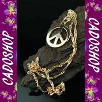 Chaîne pendentif peace and love hippie cl plaque COP29