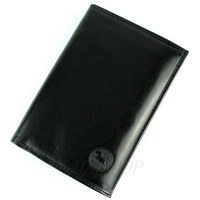 Portefeuille porte cartes 3 volets cuir vachette GZ0007 Noir