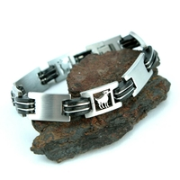 Bracelet acier homme signe du zodiaque Bélier BRSZ1 1