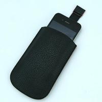 Housse pochette étui cuir pour Apple iPhone 3G 3GS 4 4S HP4 Noir