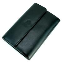 Compagnon de voyage tout en un portefeuille porte chéquier cuir GZ0014 Noir