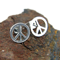 Boucles d'oreilles acier peace and love bo homme BOS45