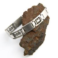 Bracelet acier homme signe du zodiaque Cancer BRSZ2 4