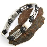 Bracelet acier homme motif lézard salamandre BRSX2