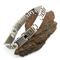 Bracelet acier homme motif grec BRSX4