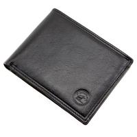 Portefeuille porte carte 2 volets cuir vachette S5646 Noir