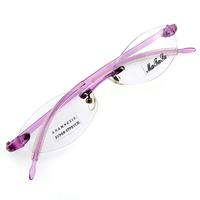 Monture de lunettes de vue percée invisible L7006 Violet translucide