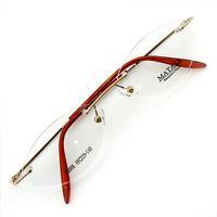 Monture de lunettes de vue percée invisible LC6006 Doré