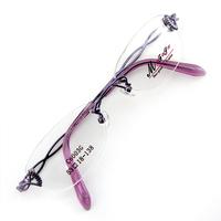Monture de lunettes de vue percée invisible LC6003 Violet