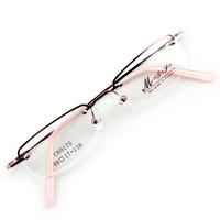 Monture de lunettes de vue demi cerclée LC6017 Rose