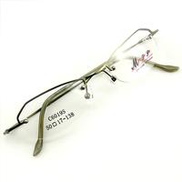 Monture de lunettes de vue demi cerclée LC6019 Vert kaki