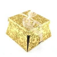 50 boîtes à gâteaux pour faire part mariage baptême motif floral BTC22 Doré