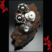 Boucles d'oreilles bo clip pendentes coeur neuf BOC32