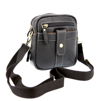 Sac pochette bandoulière ceinture cuir SB1201 Noir