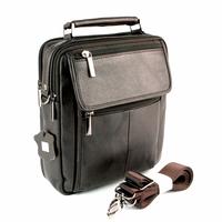 Sacoche besace sac à bandoulière cuir vachette SB7009 Marron