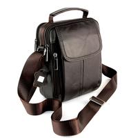 Sacoche besace sac à bandoulière cuir vachette SB7029 Marron