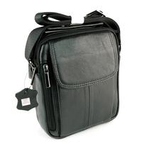 Sacoche besace sac à bandoulière cuir vachette SB7029 Noir