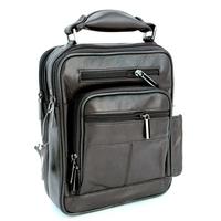 Sacoche besace sac à bandoulière cuir vachette SB1122 P Marron