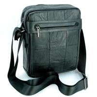 Sacoche besace sac à bandoulière cuir vachette format ipad SB8221 Noir