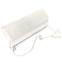 Sac pochette strass soirée mariage SXD120015 Blanc