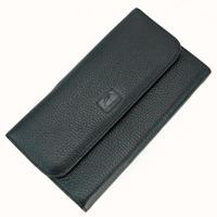 Compagnon portefeuille porte chéquier cuir vachette S5161 Noir