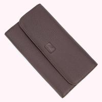 Compagnon portefeuille porte chéquier cuir vachette S5161 Marron