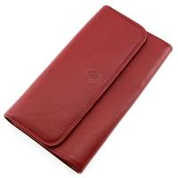 Compagnon portefeuille porte chéquier cuir vachette S5661 Rouge