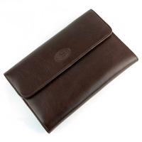 Compagnon de voyage tout en un portefeuille porte chéquier cuir GZ0014 Marron