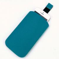 Housse pochette étui cuir pour Apple iPhone 5 5S HP5 Bleu