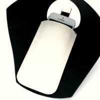 Housse pochette étui cuir pour Apple iPhone 3G 3GS 4 4S HP4 Écru