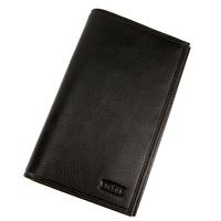 Porte chéquier portefeuille carte cuir vachette S5840 Noir