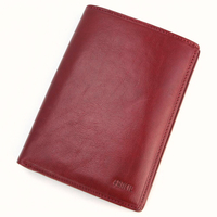Portefeuille porte carte 1 volet cuir FA302 Rouge