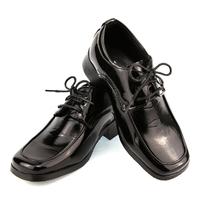 Chaussure derby enfant garçon pour cérémonie mariage 24 au 37 C901 NOIR VERNI