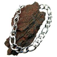 Bracelet chaine acier maille figaro 1+3 BRC6 G 21 cm X 1.12 cm