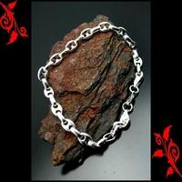 Bracelet goumette grain de café plaqué argent BRP20