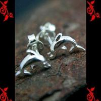 Boucles d'oreilles bo dauphin homme enfant argent BOA70