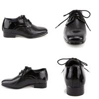 Chaussure derby enfant garçon pour cérémonie mariage 24 au 37 C8029 NOIR VERNI