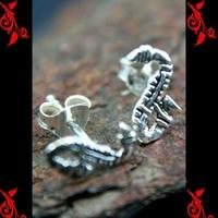 Boucles d'oreilles bo serpent gothique homme enfant argent BOA73