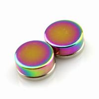 Boucles d'oreilles acier faux écarteur non percées aimant magnétique BOF24 Multicolore 8mm