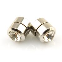 Boucles d'oreilles acier non percées aimant magnétique BOF25 Blanc 10mm