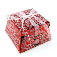 50 boîtes à gâteaux pour faire part mariage baptême motif floral BTC22 Rouge