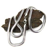 Chaîne collier acier maille serpent CCS21 C 57 cm 0.5 cm