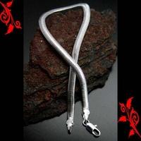 Bracelet goumette maille serpent cl plaque argent BRP5