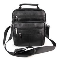 Sacoche besace sac à bandoulière homme cuir vachette SB7507 Noir